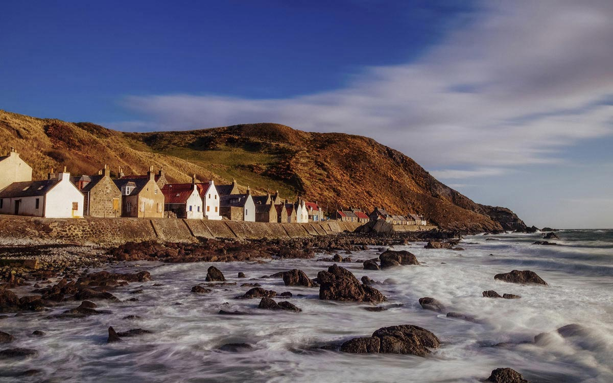 Scottish cottages by the sea